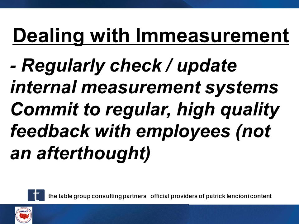 Dealing with Immeasurement
