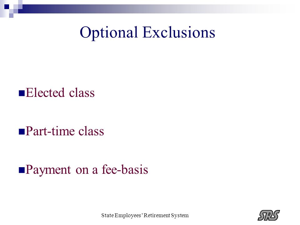 Elected class Part-time class Payment on a fee-basis