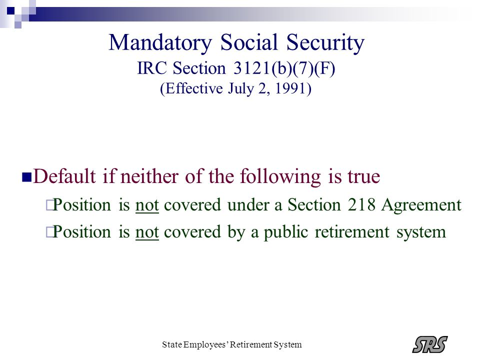 State Employees' Retirement System