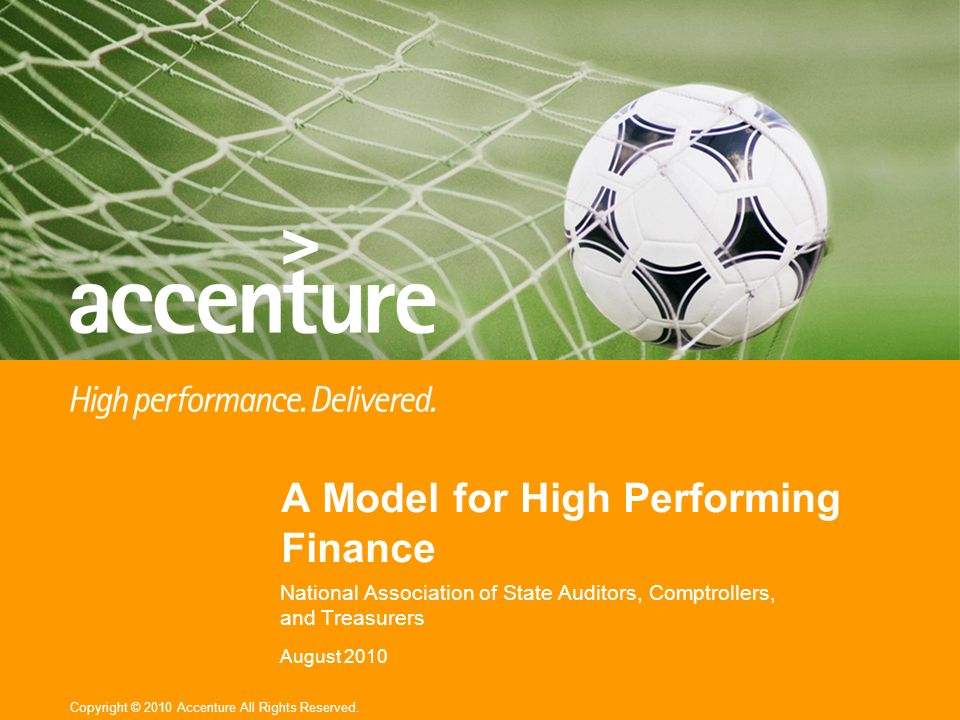 A Model for High Performing Finance