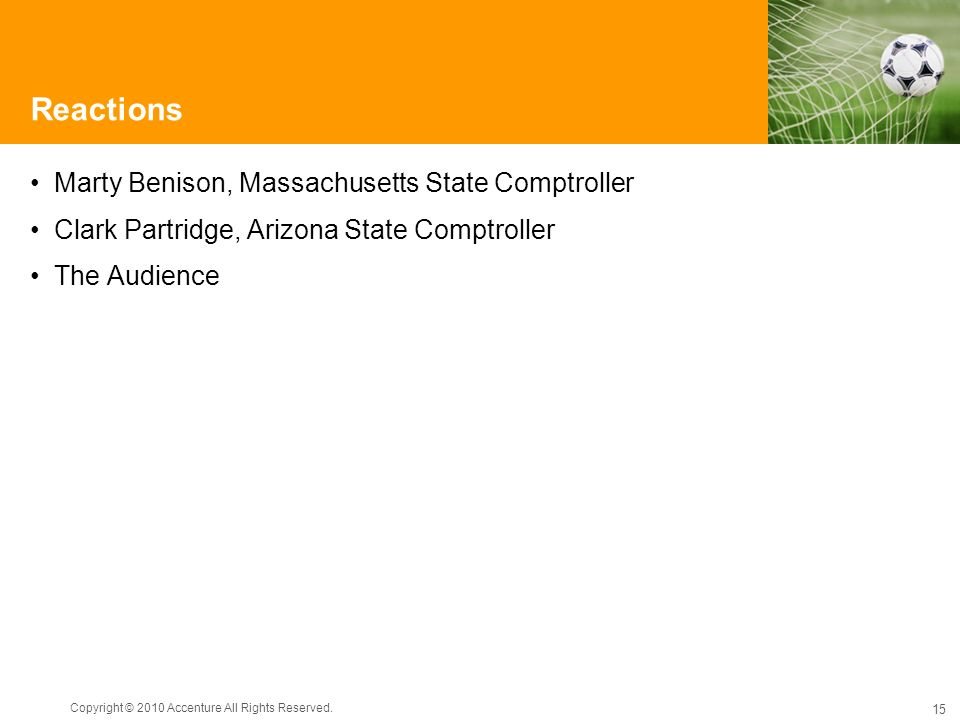 Reactions Marty Benison, Massachusetts State Comptroller