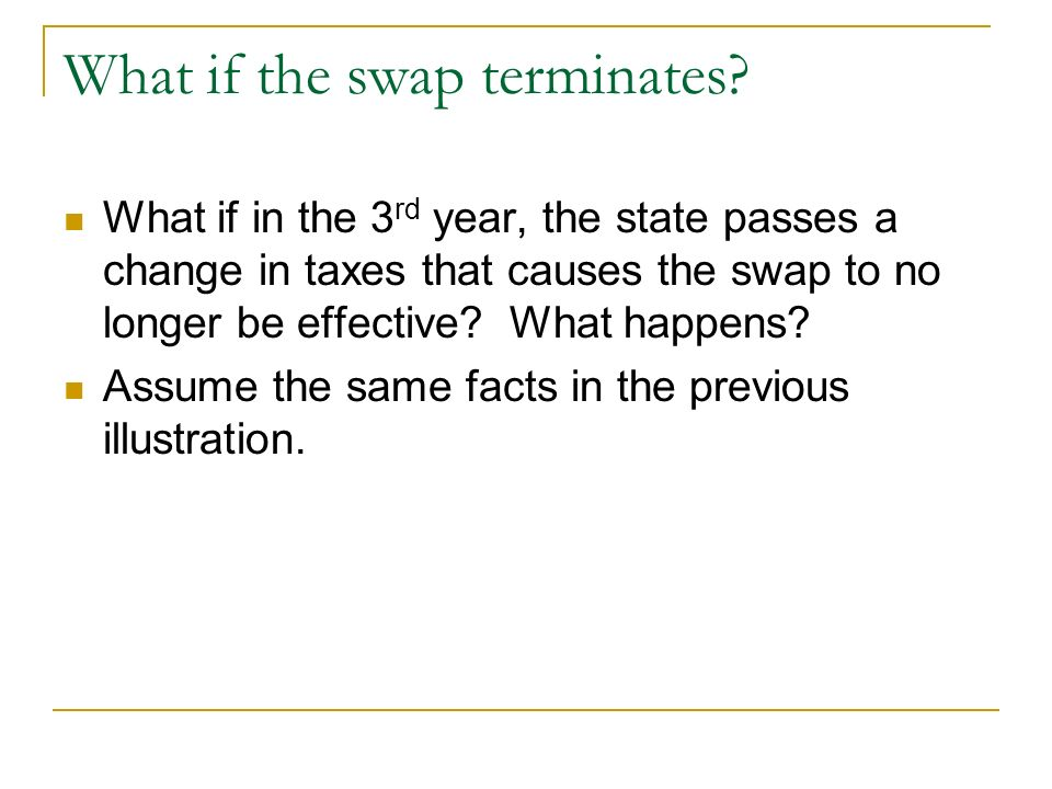 What if the swap terminates