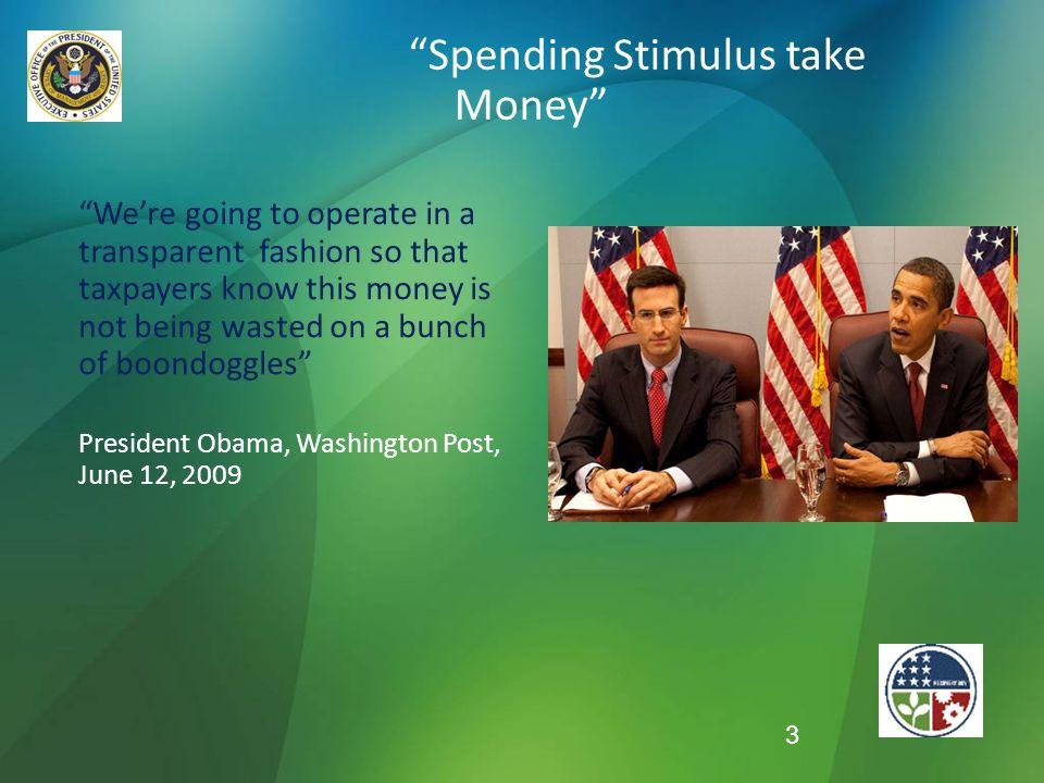Spending Stimulus take Money