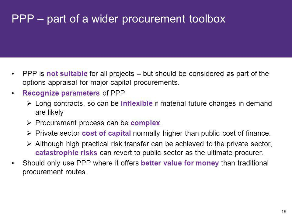 PPP – part of a wider procurement toolbox