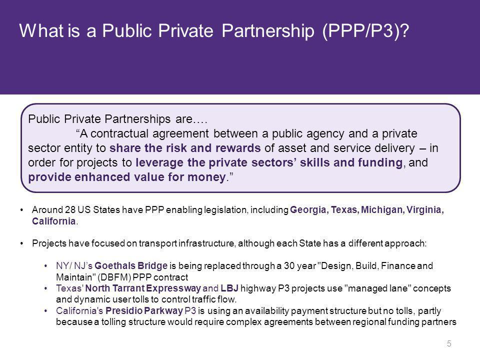 What is a Public Private Partnership (PPP/P3)