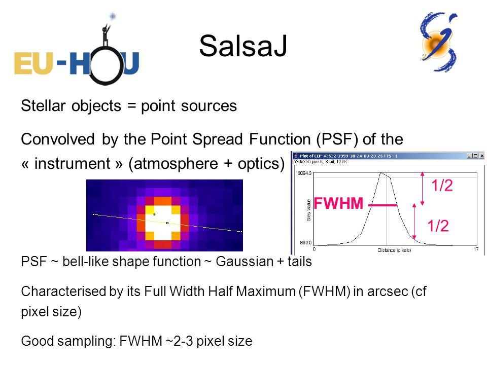 SalsaJ Stellar objects = point sources