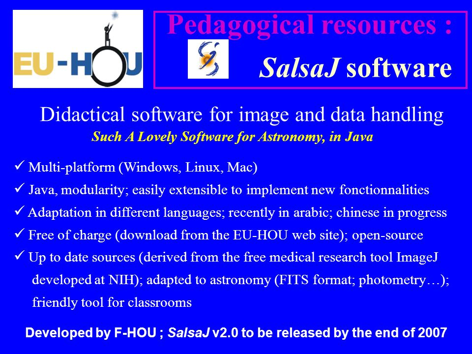 Didactical software for image and data handling