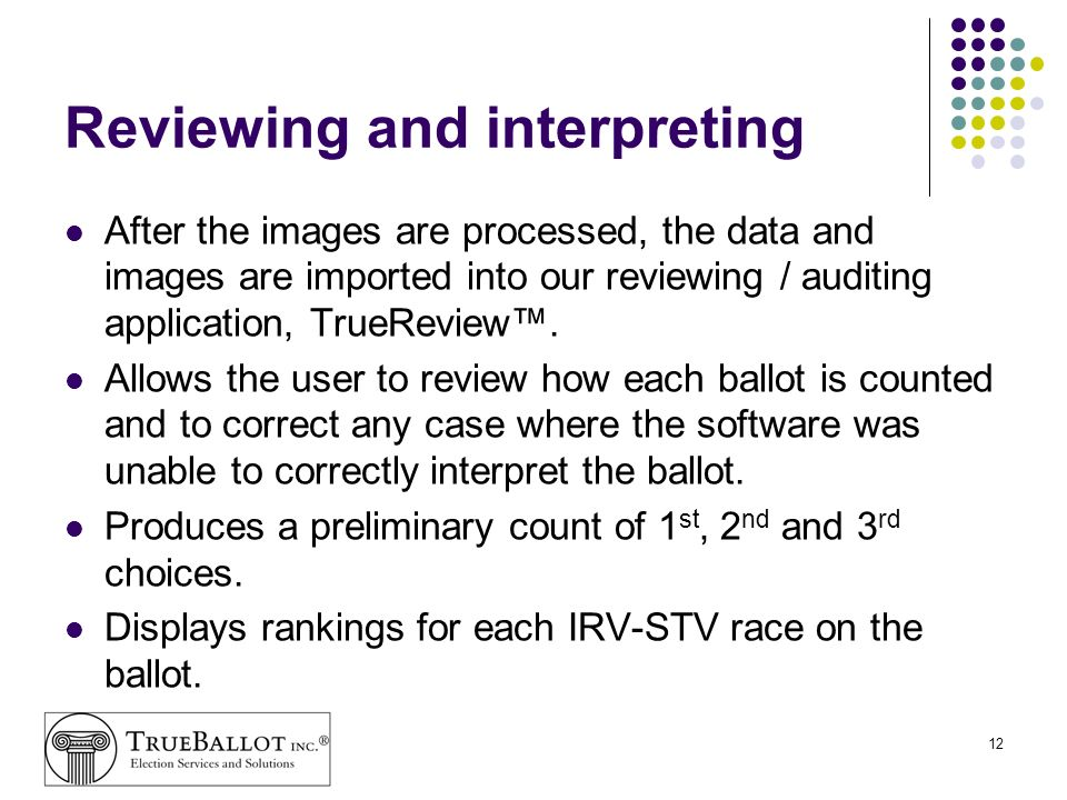 Reviewing and interpreting