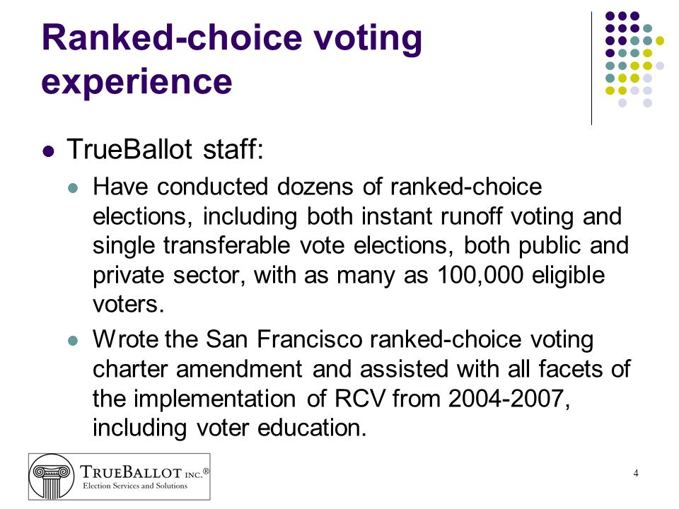 Ranked-choice voting experience