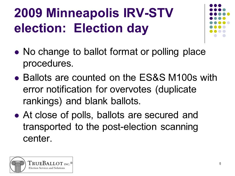 2009 Minneapolis IRV-STV election: Election day