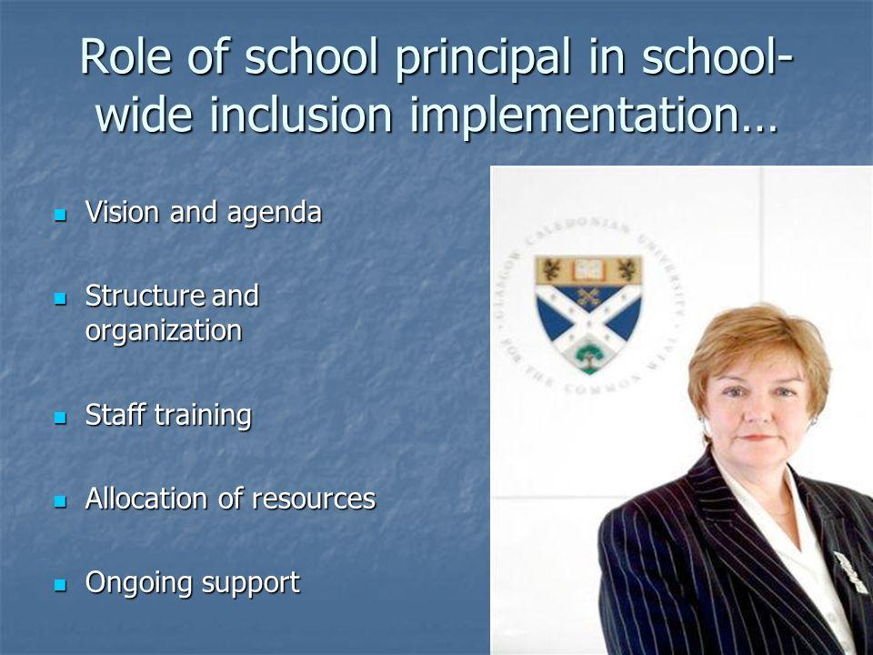 Role of school principal in school-wide inclusion implementation…
