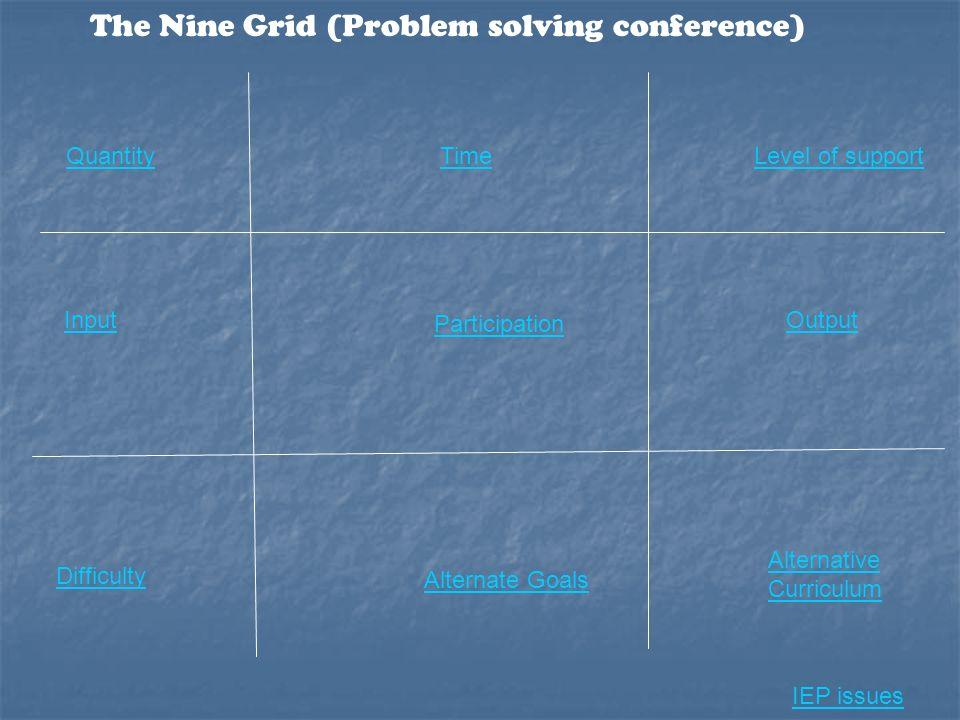 The Nine Grid (Problem solving conference)