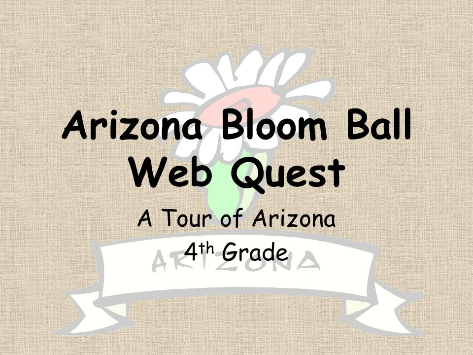 Arizona Bloom Ball Web Quest