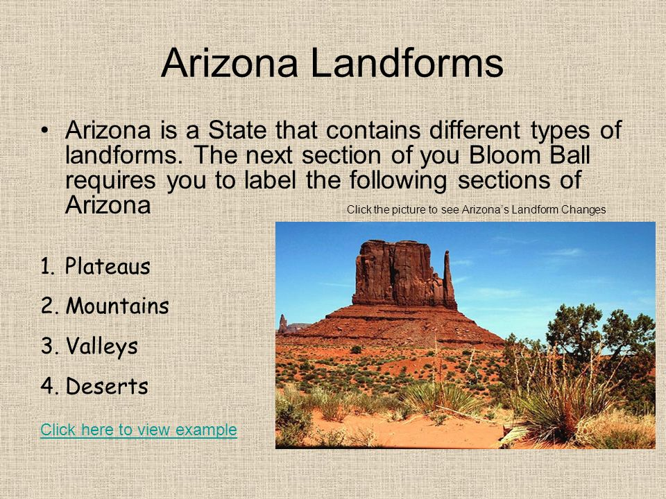 Arizona Landforms