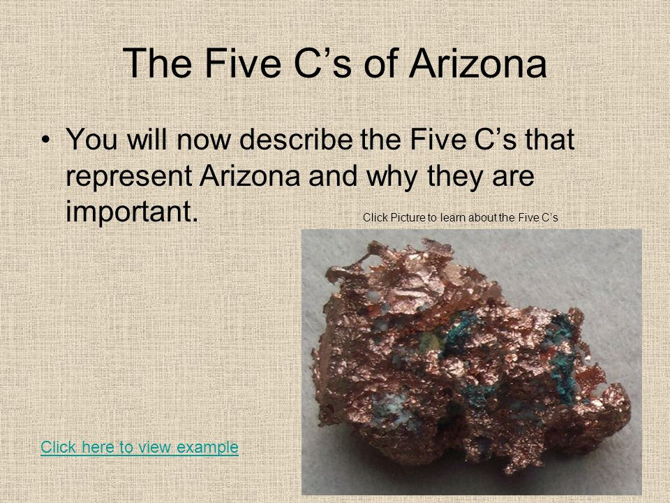 The Five C's of Arizona