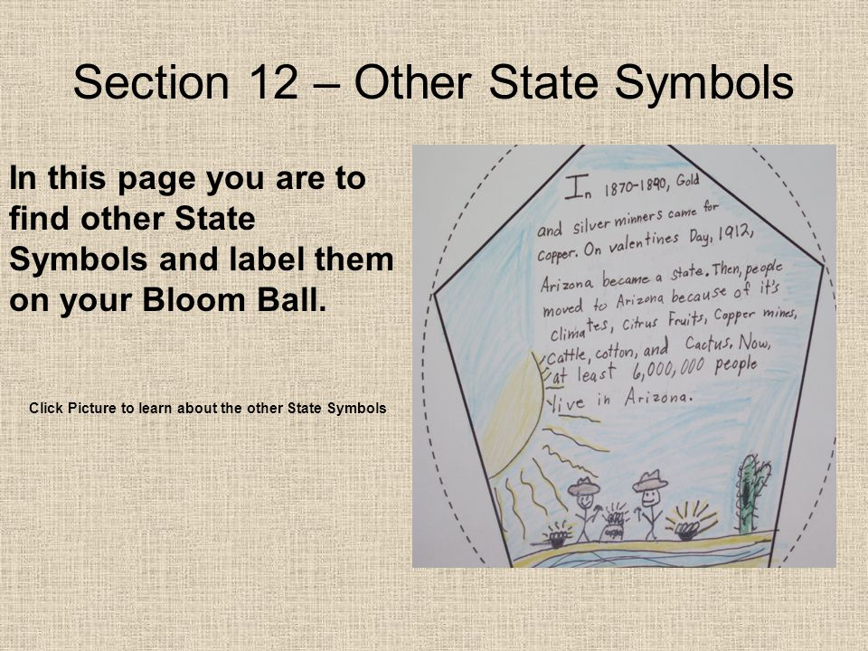 Section 12 – Other State Symbols