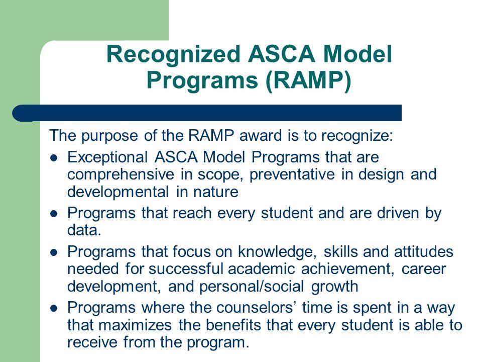 Recognized ASCA Model Programs (RAMP)