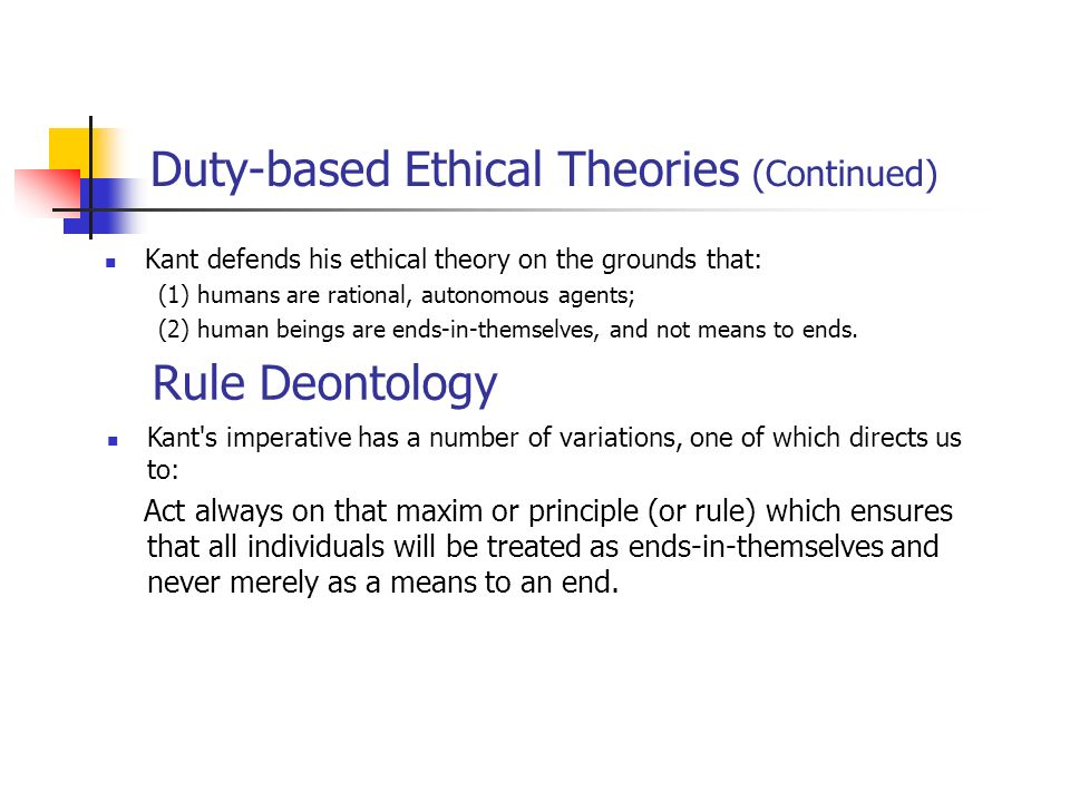 "contract based ethical theory Teleological or ""goods-based"" ethics: for these theories, ethics is primarily   social agreement, or contract: one species of naturalistic theory is contract theory."