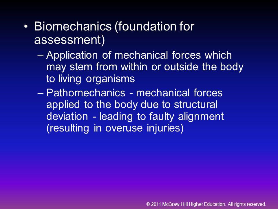 Biomechanics (foundation for assessment)