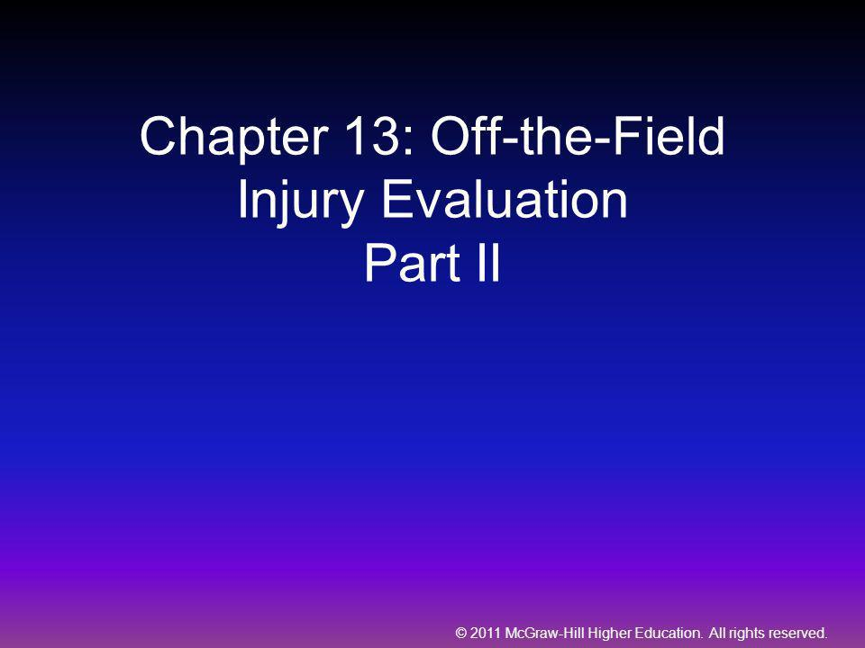 Chapter 13: Off-the-Field Injury Evaluation Part II