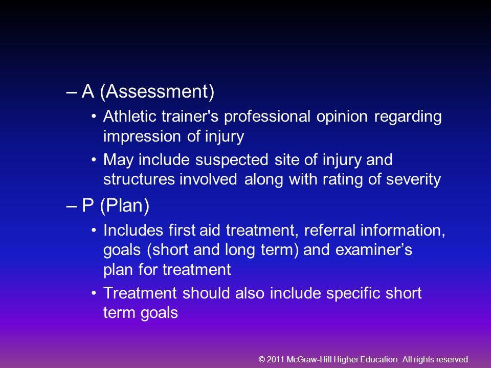 A (Assessment) P (Plan)
