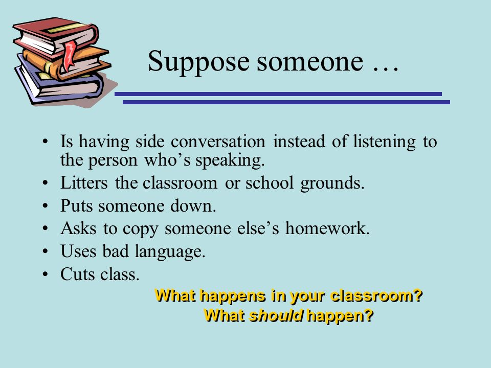 What happens in your classroom What should happen