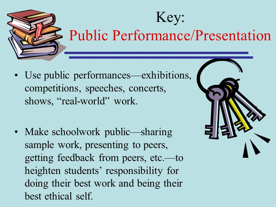 Key: Public Performance/Presentation