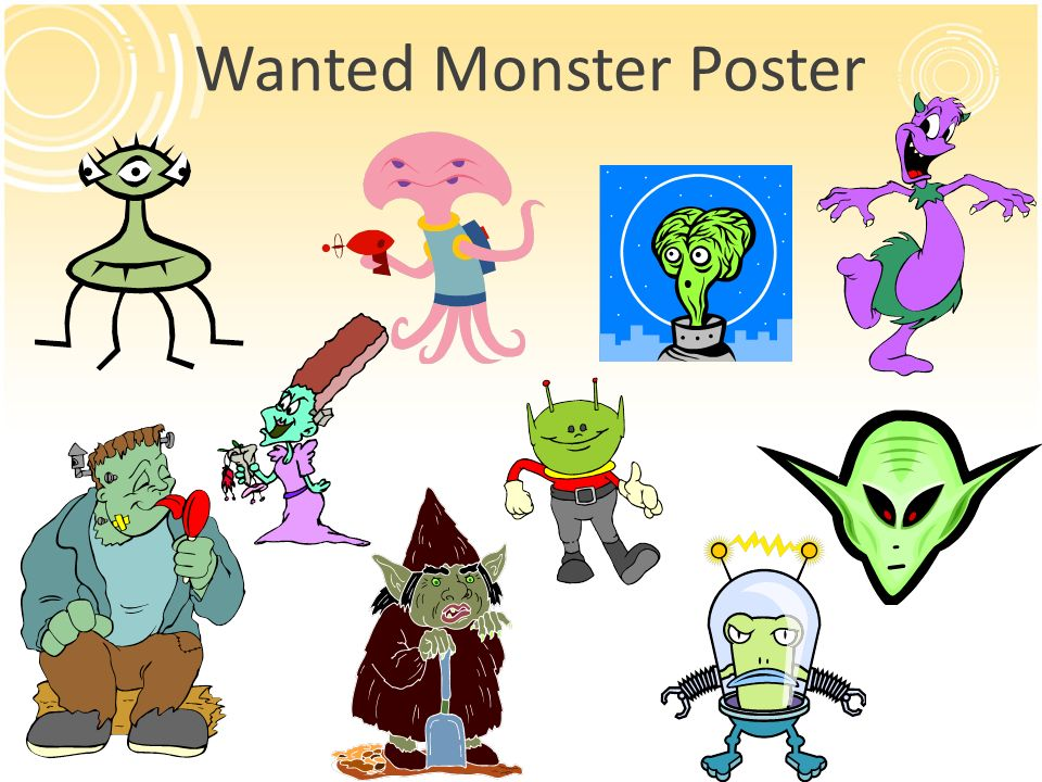 Wanted Monster Poster 13