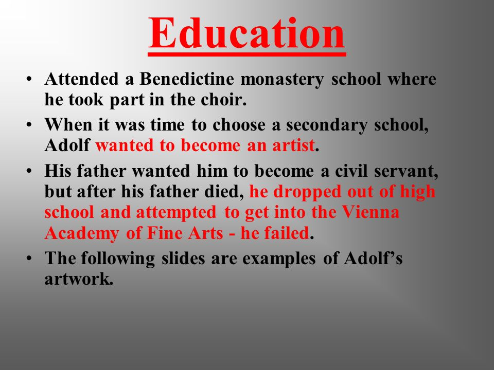 Education Attended a Benedictine monastery school where he took part in the choir.