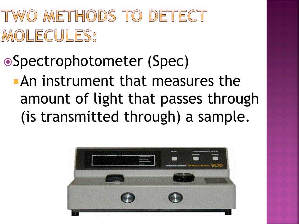 Two methods to detect molecules: