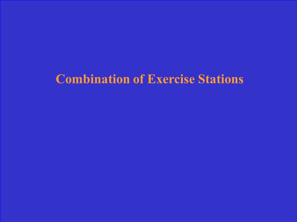 Combination of Exercise Stations