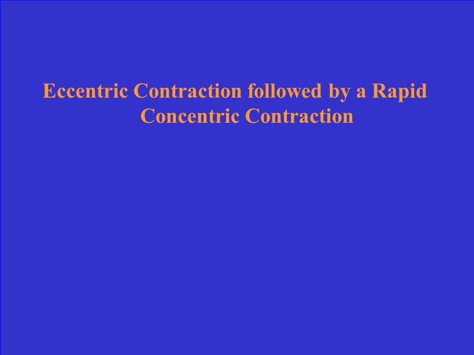 Eccentric Contraction followed by a Rapid Concentric Contraction