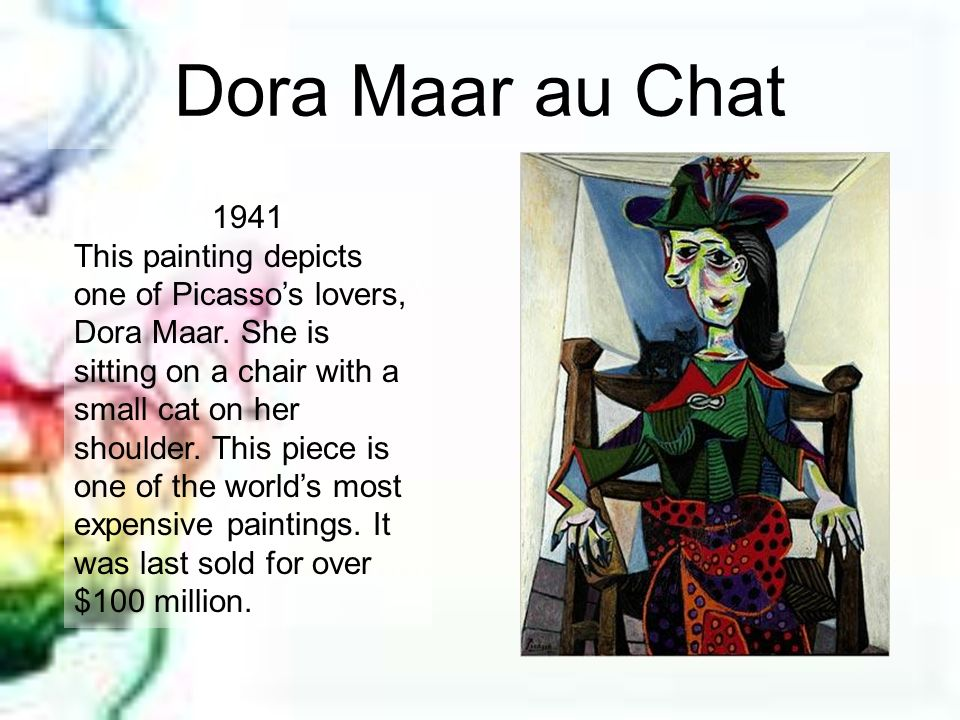 Dora Maar au Chat 1941.