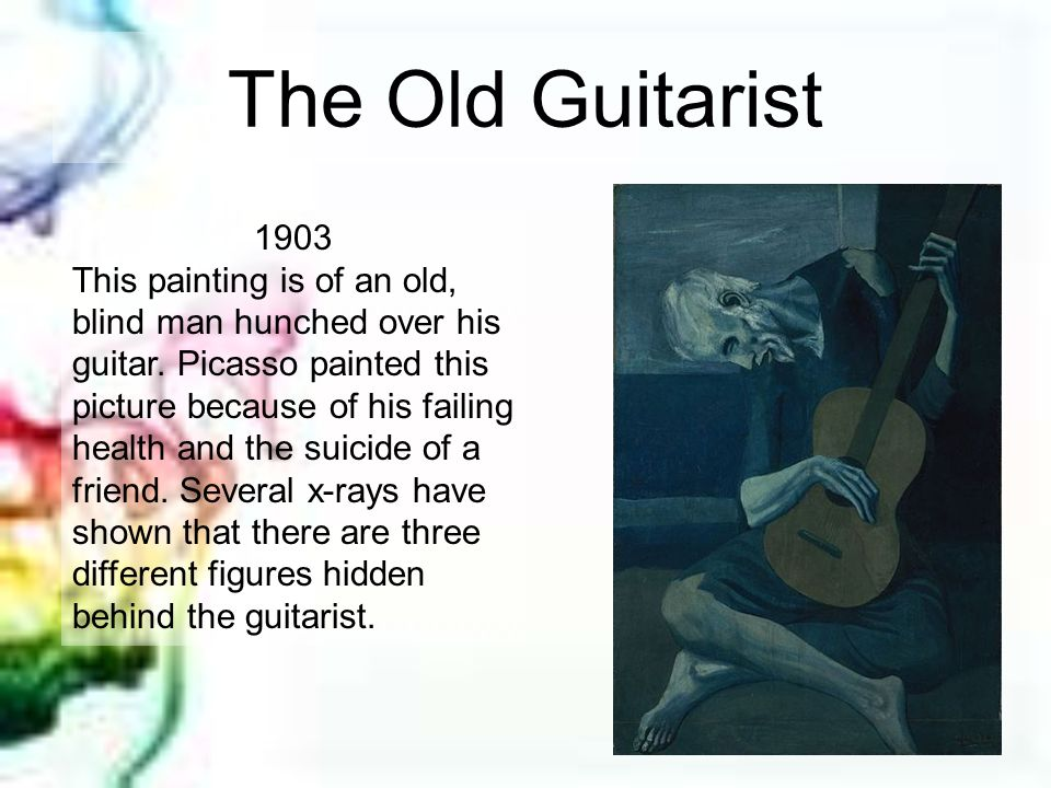 The Old Guitarist 1903.