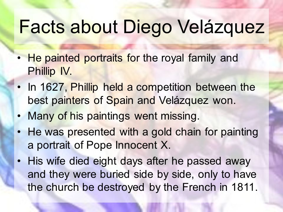 Facts about Diego Velázquez