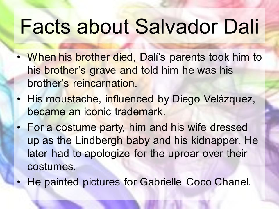 Facts about Salvador Dali