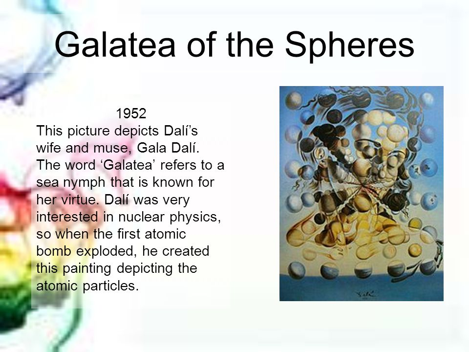Galatea of the Spheres 1952.