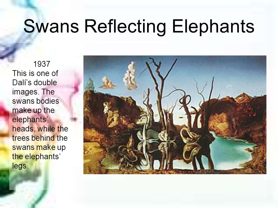 Swans Reflecting Elephants