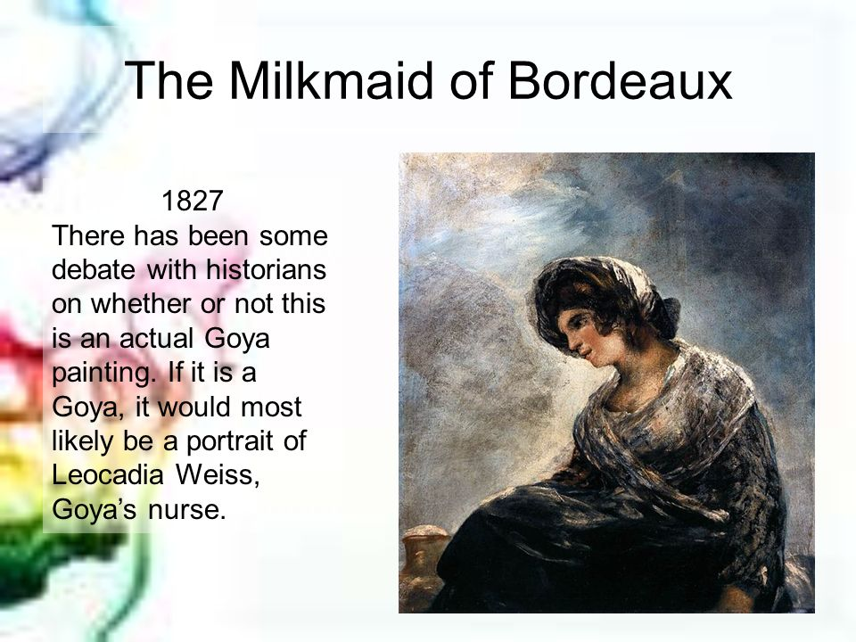 The Milkmaid of Bordeaux