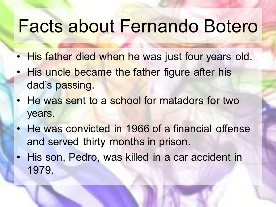 Facts about Fernando Botero