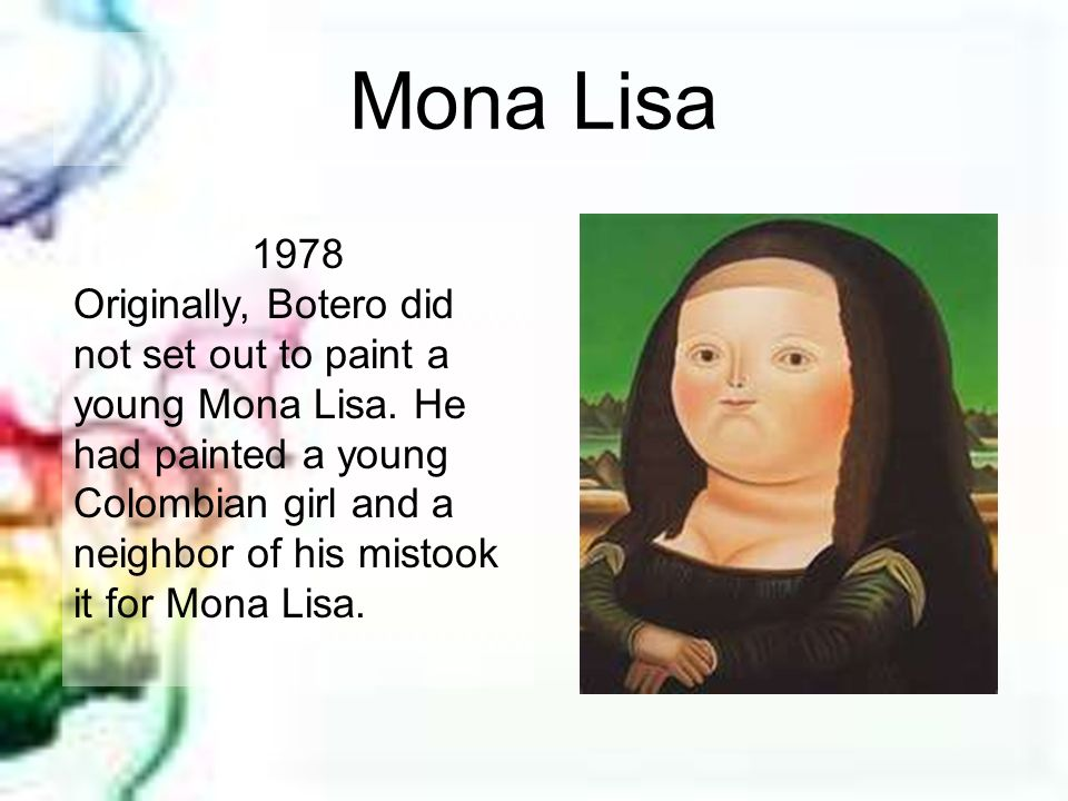 Mona Lisa 1978.