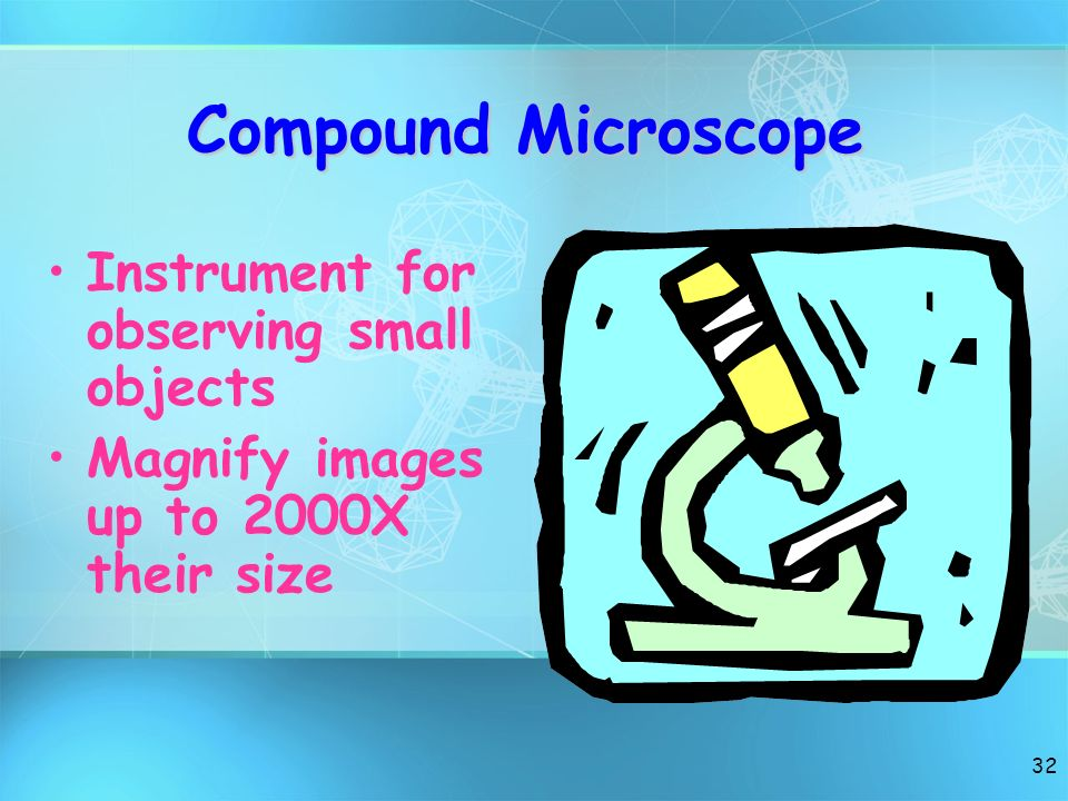 Compound Microscope Instrument for observing small objects