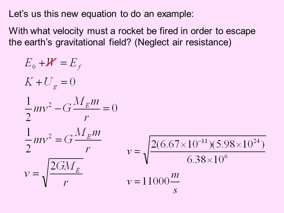 Let's us this new equation to do an example: