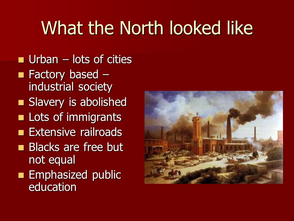 What the North looked like