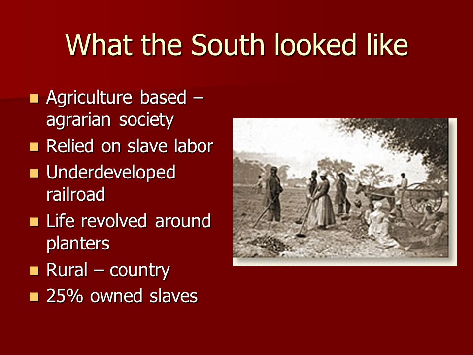 What the South looked like