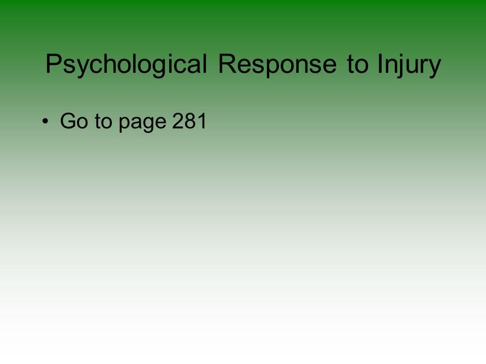 Psychological Response to Injury