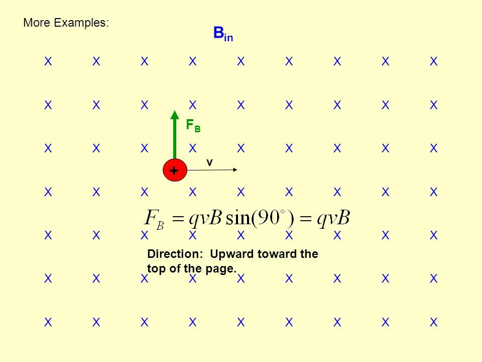 Bin + FB More Examples: X X X X X X X X X v