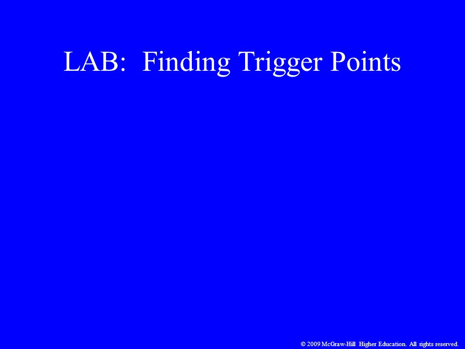 LAB: Finding Trigger Points