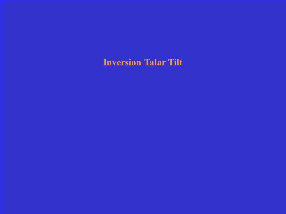 Inversion Talar Tilt