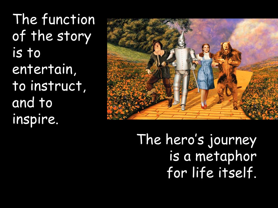 The function of the story is to entertain, to instruct, and to inspire.